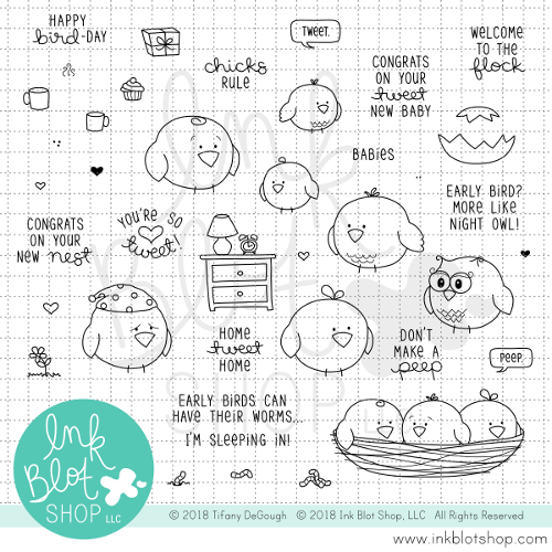 Tweet Talk :: 6x8 Clear Stamp Set