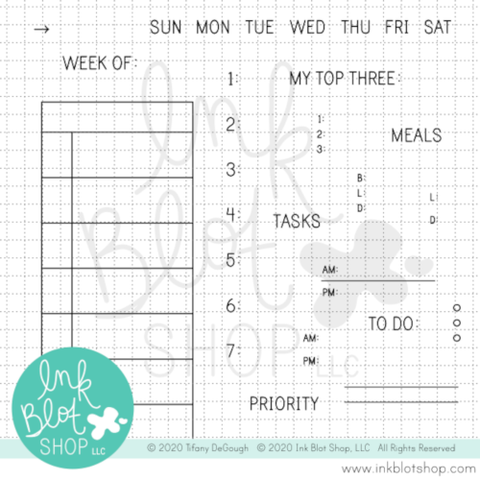 Weekly Task Bar (Calendar Builder) :: 4x6 Clear Stamp Set