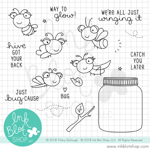 Winging It :: 4x6 Clear Stamp Set