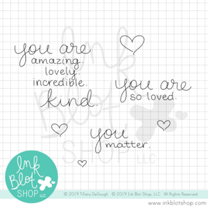 You Matter :: 3x4 Clear Stamp Set