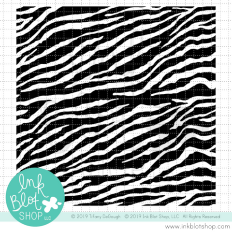 Zebra Print Background :: 6x6 Clear Stamp Set