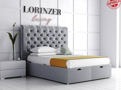 Marcella Divan Ottoman Storage Bed - Lorinzer Living