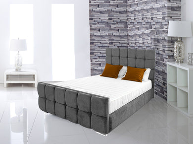 Marlow Cube Upholstered Bed Bed Frame Prestige Furnishings UK
