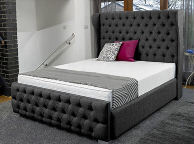 Iris Winged Designer End Bed Winged Bed Prestige Furnishings UK