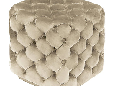 Lina Square Tufted Pouffe Footstool - Lorinzer Living