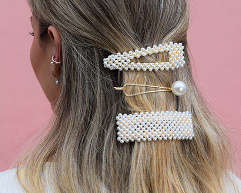 pearl hair clips new in