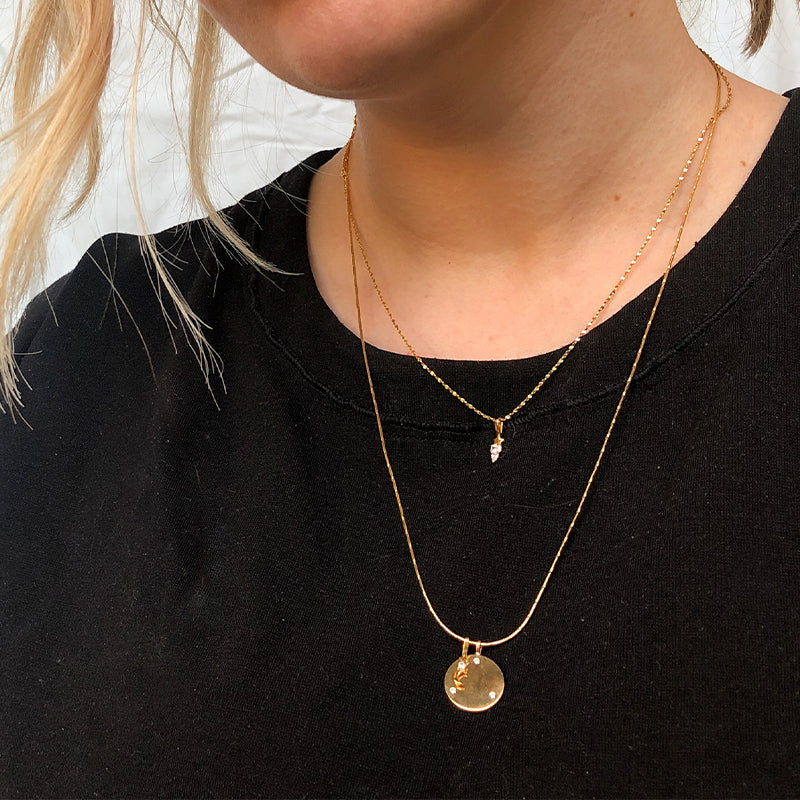 Cool Girl Necklace Stack in Gold