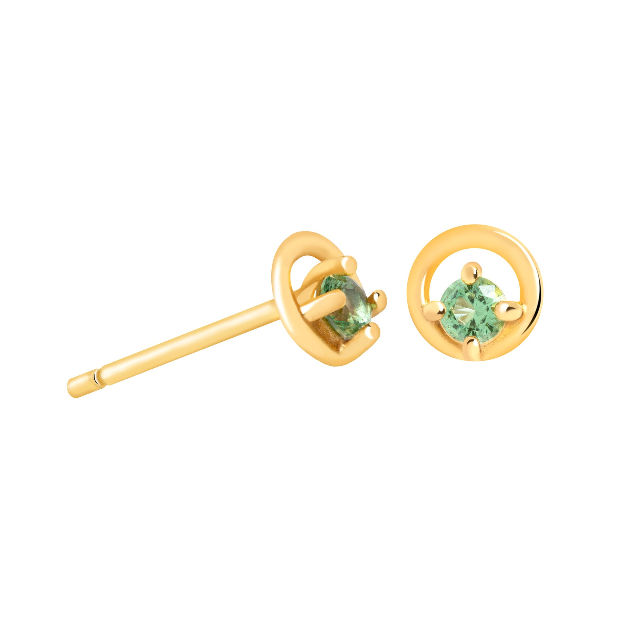 Gleam Stud Earrings in Gold