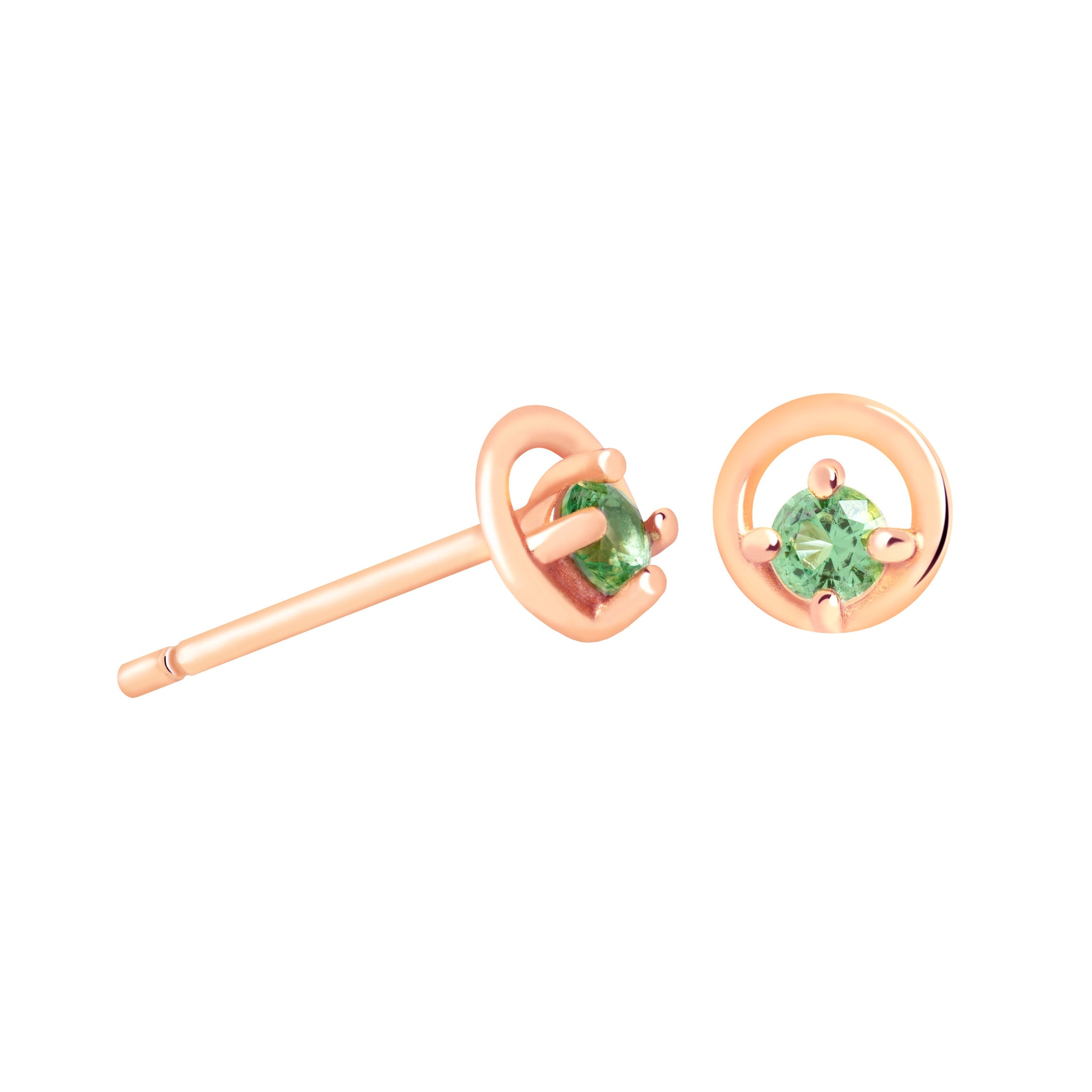 Gleam Stud Earrings in Rose Gold