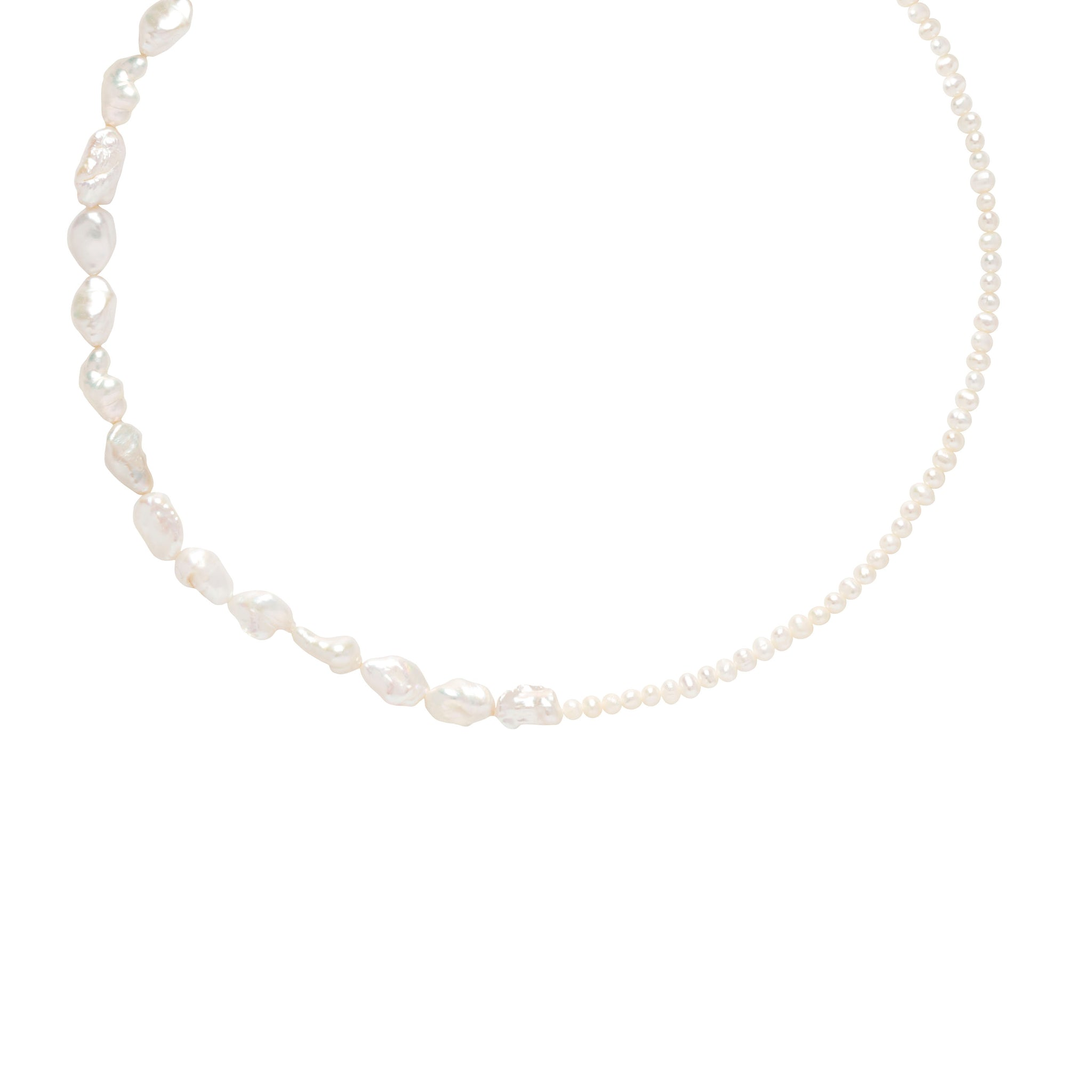 Serenity Pearl Necklace in Silver