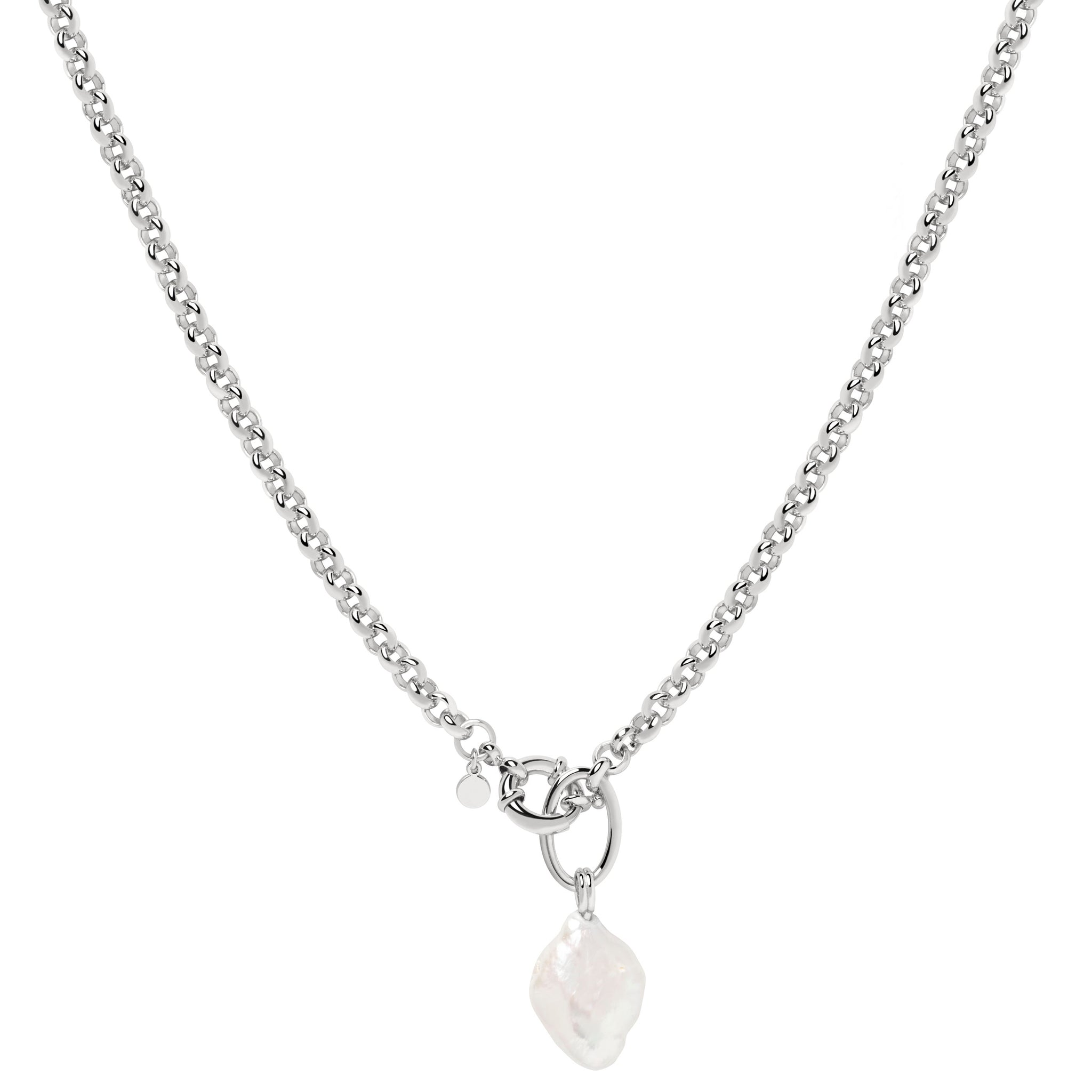 Illume Pearl Chain Necklace in Silver