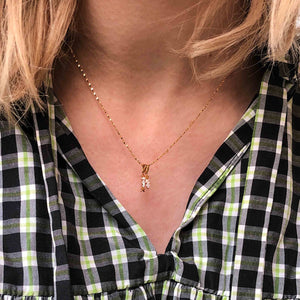 Arrow Necklace Charm in Gold on fine twist chain