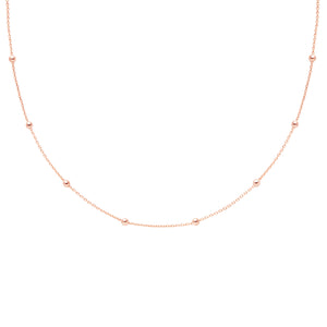 Basic Large Beaded Choker in Rose Gold