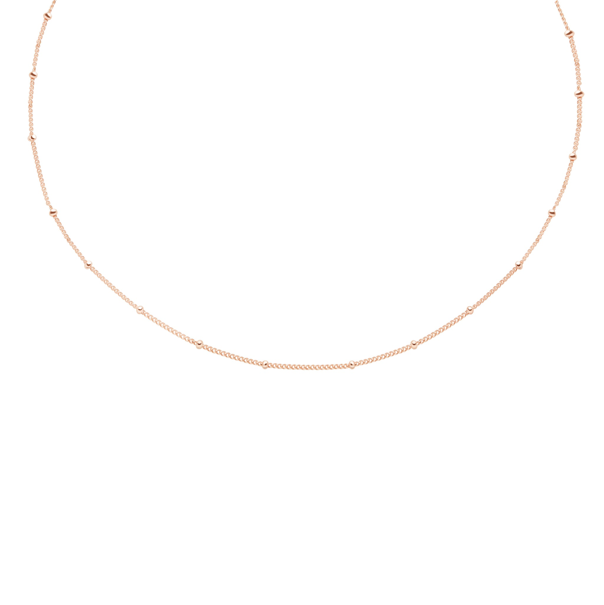 Basic Small Beaded Choker in Rose Gold