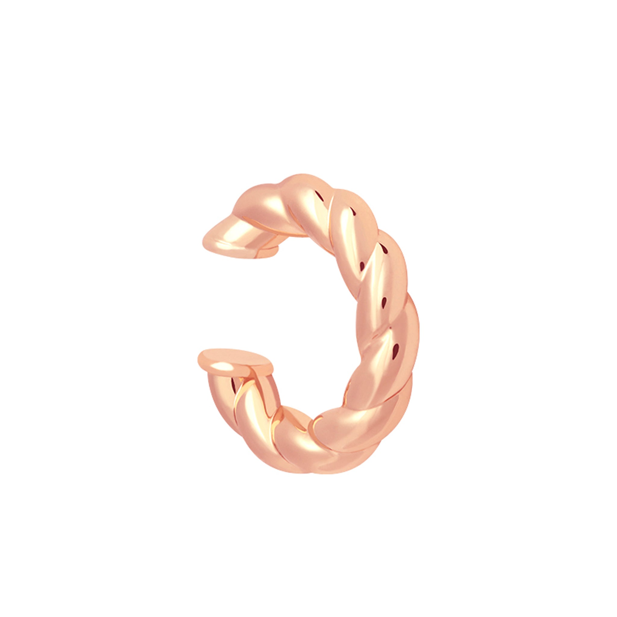 Chunky Rope Ear Cuff in Rose Gold
