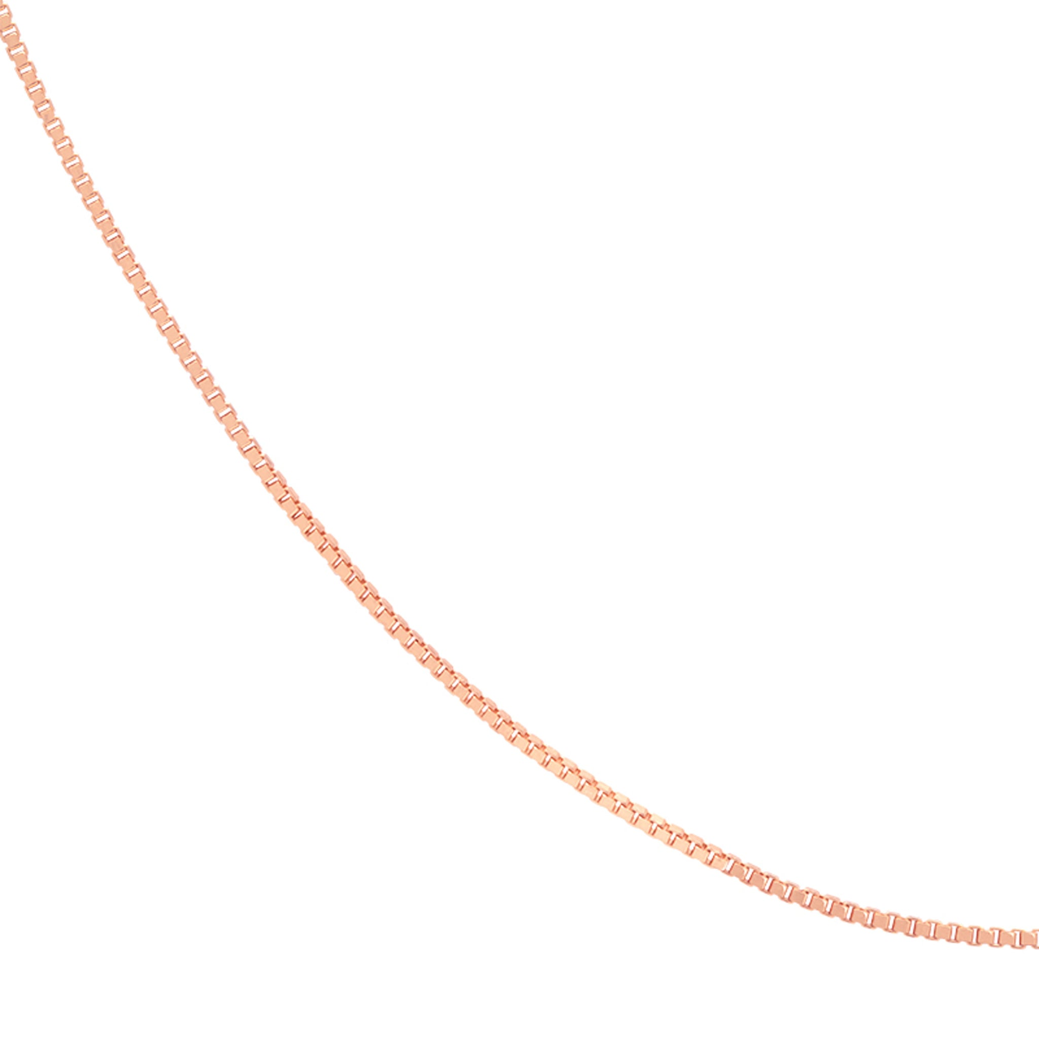 Fine Box Chain 55cm in Rose Gold