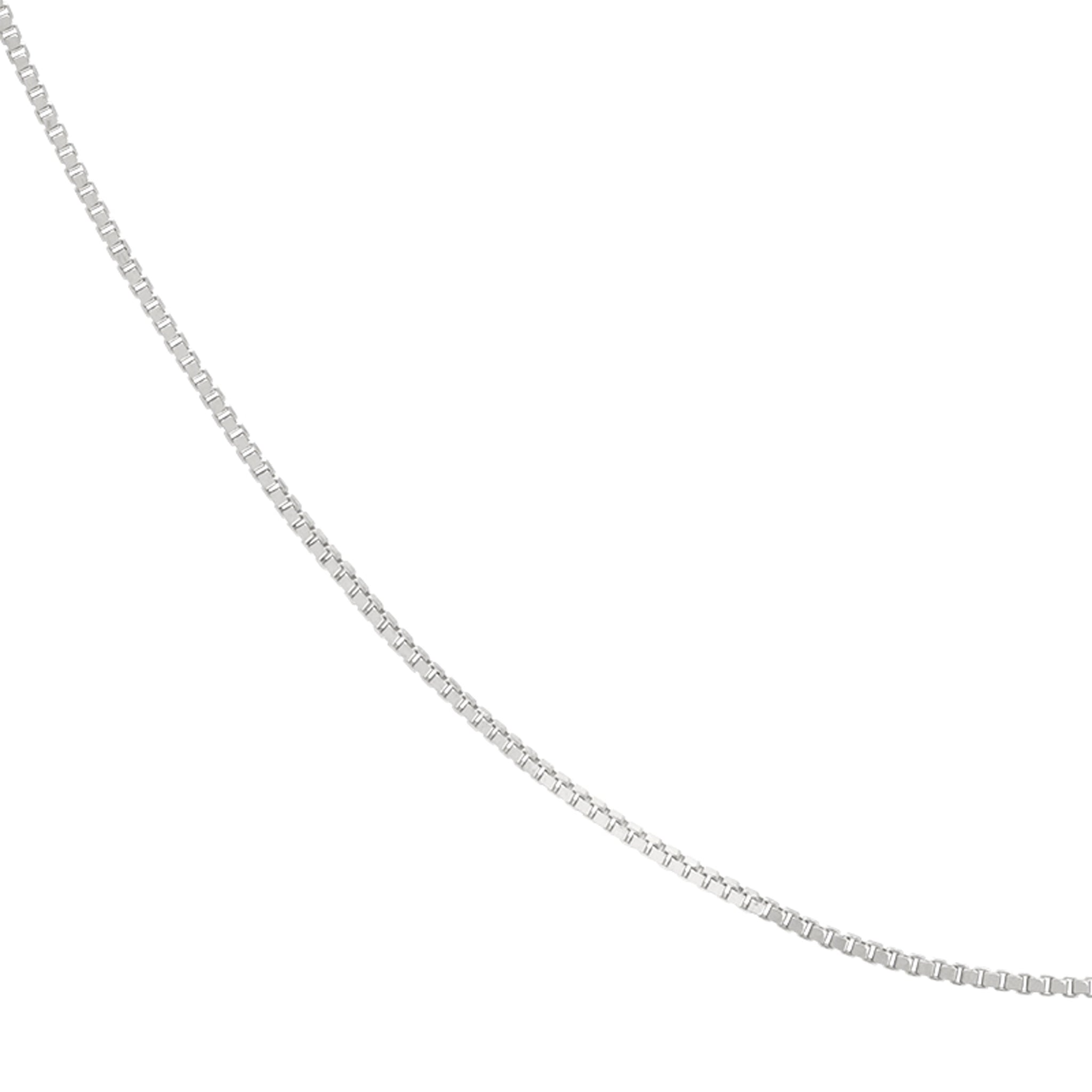 Fine Box Chain 55cm in Silver