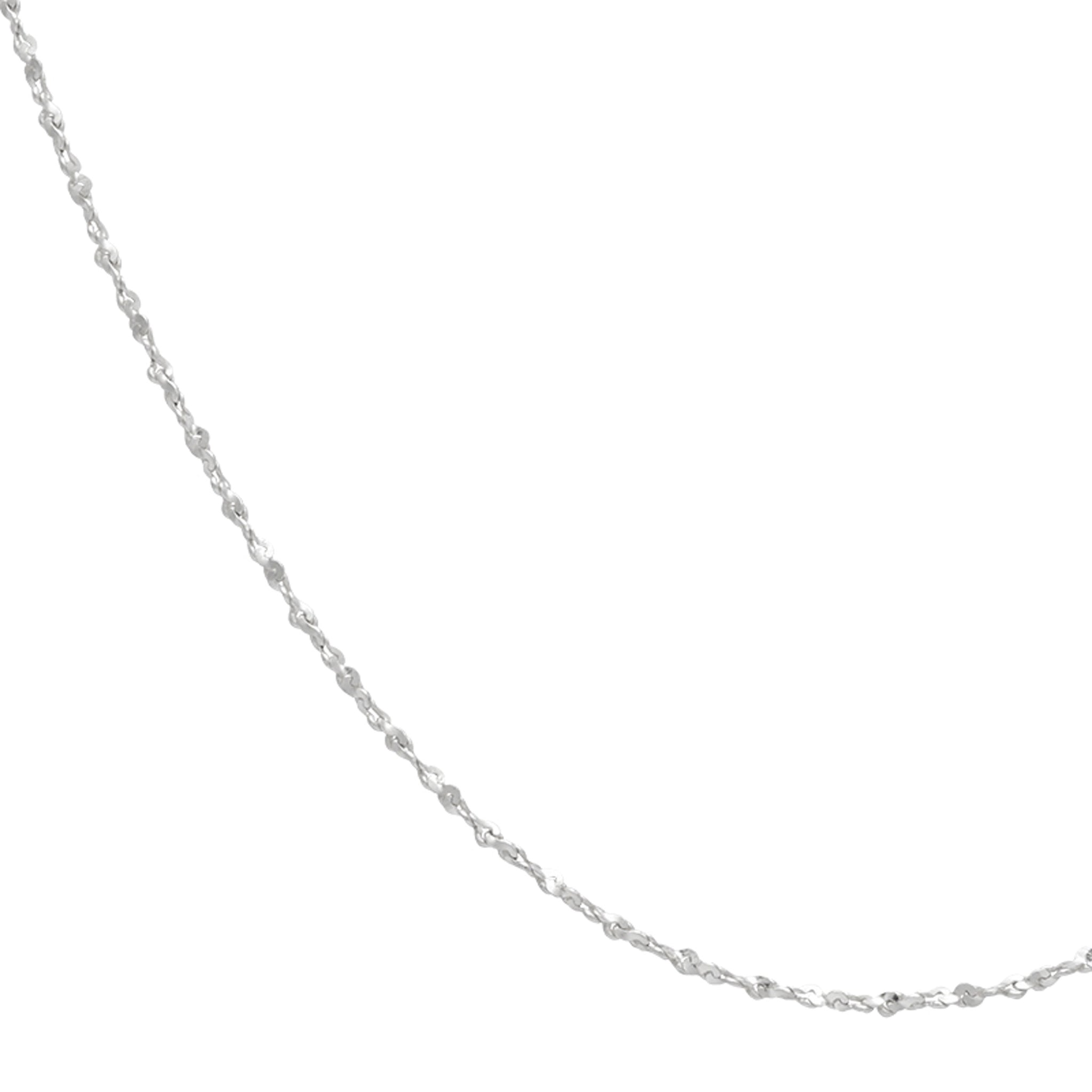 Fine Twist Chain 40cm in Silver