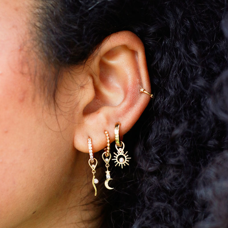 The Curated Stack in Gold in Ear