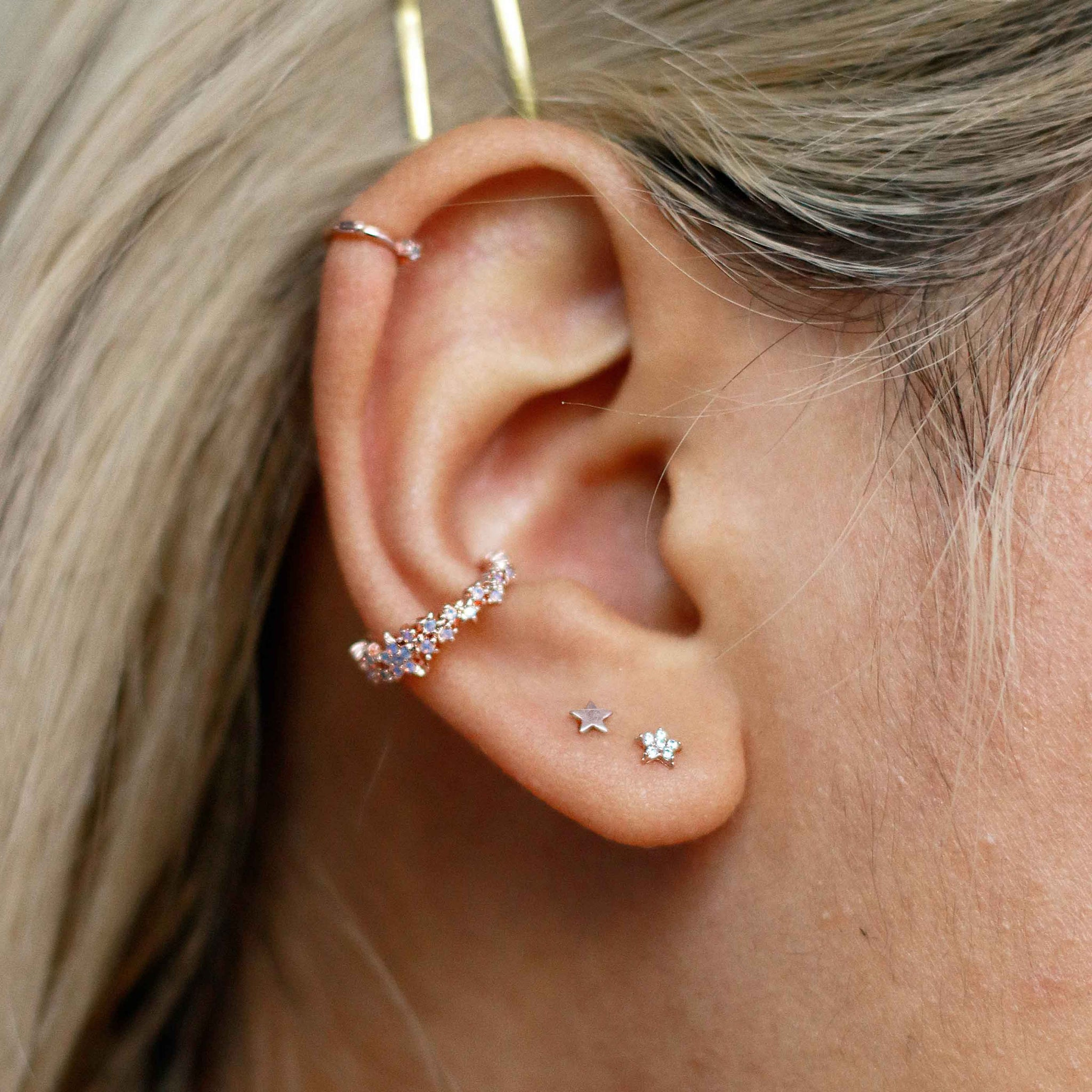Mystic Star Ear Cuff in Rose Gold
