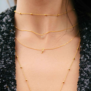 Mystic Star Necklace in Gold worn