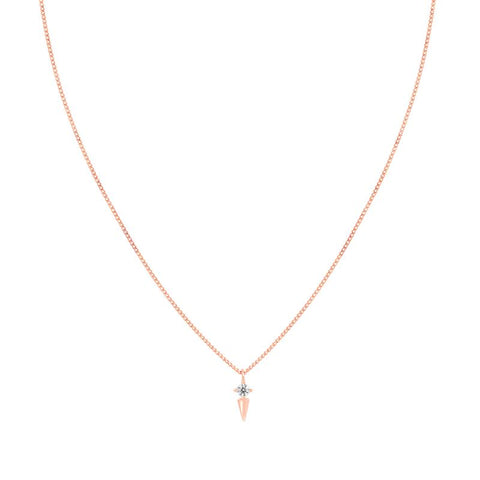 Mystic Spike Necklace in Rose Gold