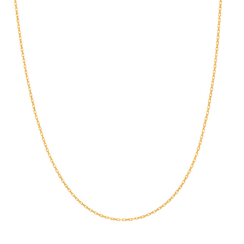Rectangular Link Necklace Chain in Gold