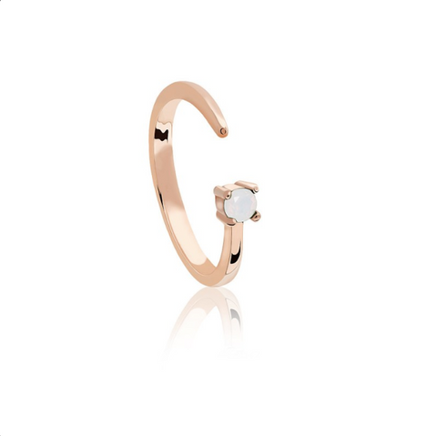 Libra Zodiac Ring in Rose Gold