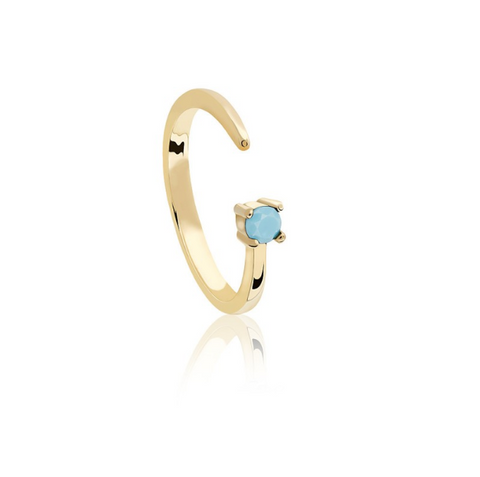 Sagittarius Zodiac Ring in Gold
