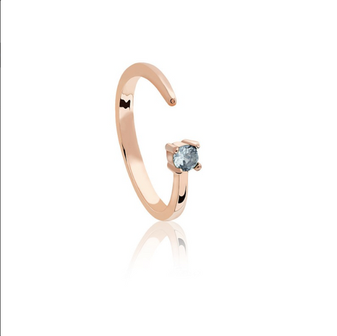 Pisces Zodiac Ring in Rose Gold