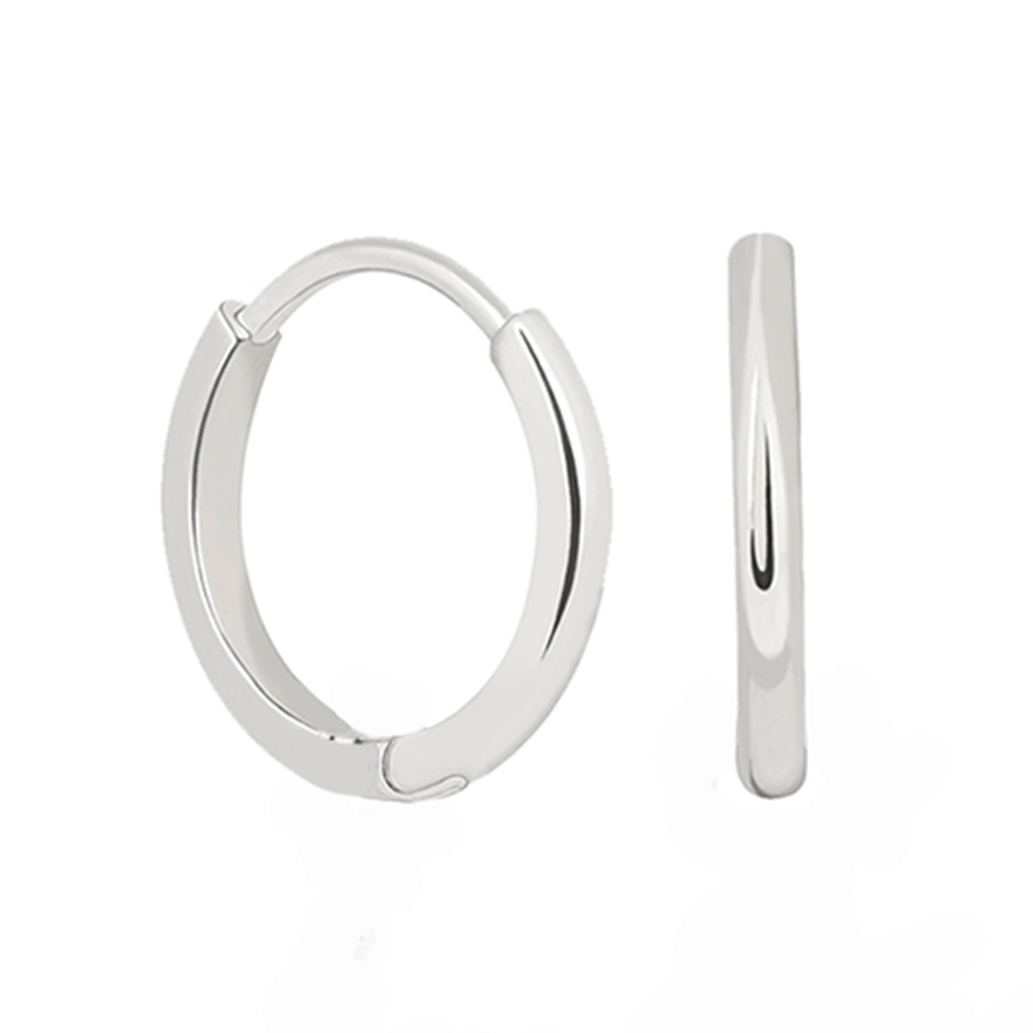 Mystic Simple Hoops in Silver