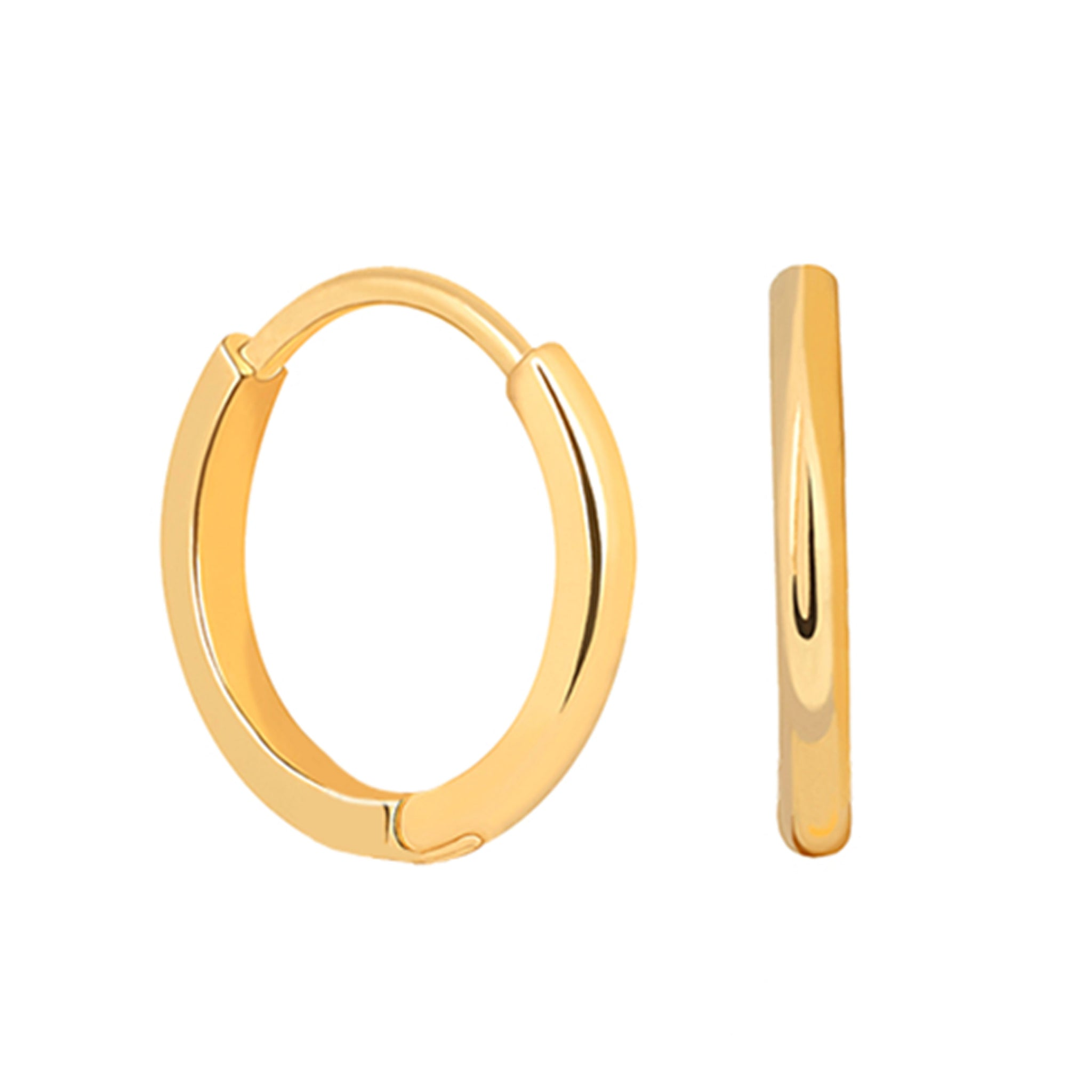Mystic Simple Hoops in Gold