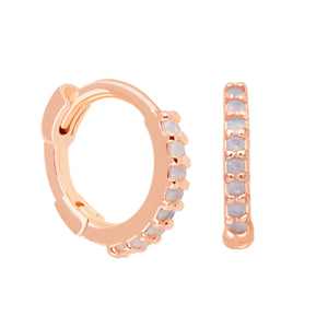 Mystic Jewelled Huggies in Rose Gold
