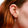 Dia Base Hoop and Triangle Charm in Ear Stack