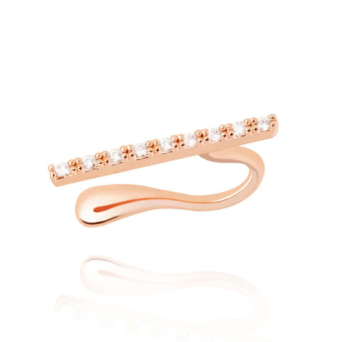 rose gold bar ear cuff