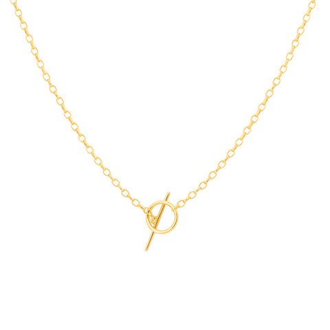 bar necklace gold