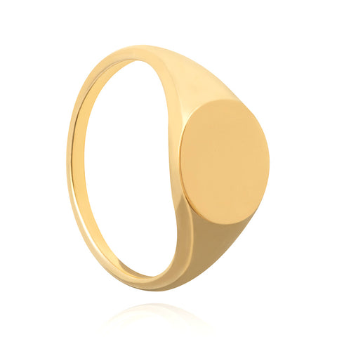 Gold large signet ring