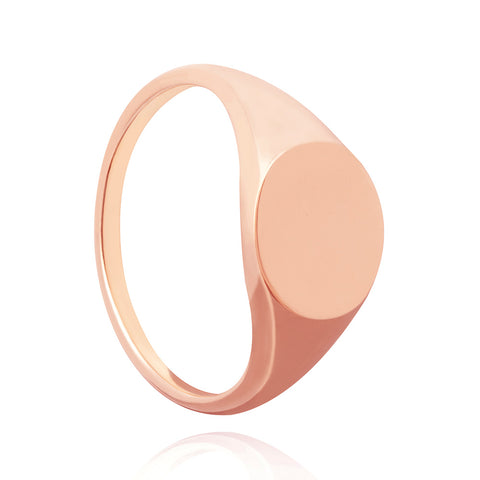 Rose gold large signet ring