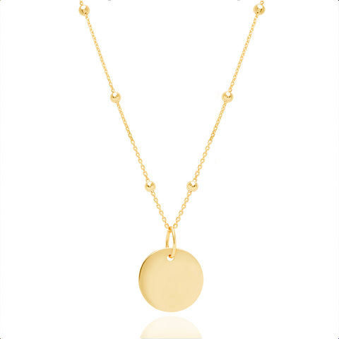 Gold basic coin necklace