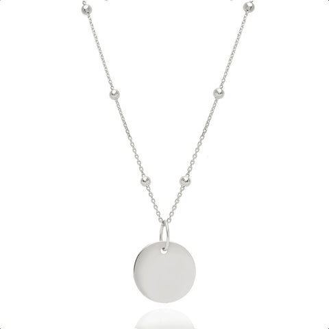Silver basic coin necklace