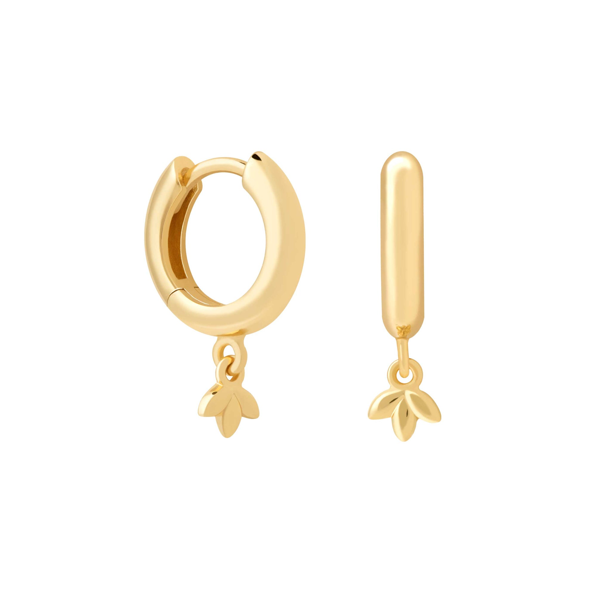 Botanist Pendant Hoops in Gold