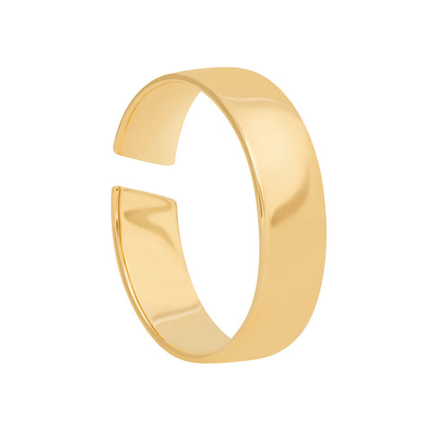 gold slim band ring
