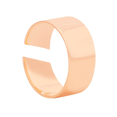 rose gold wide band ring