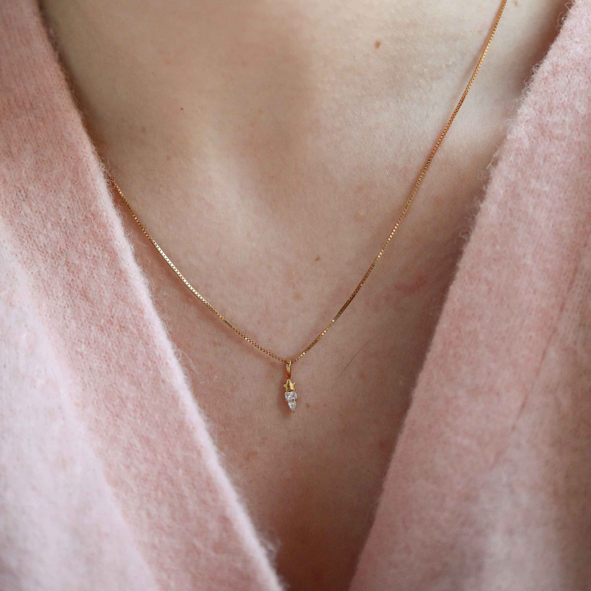 The Cherished Necklace Stack in Gold