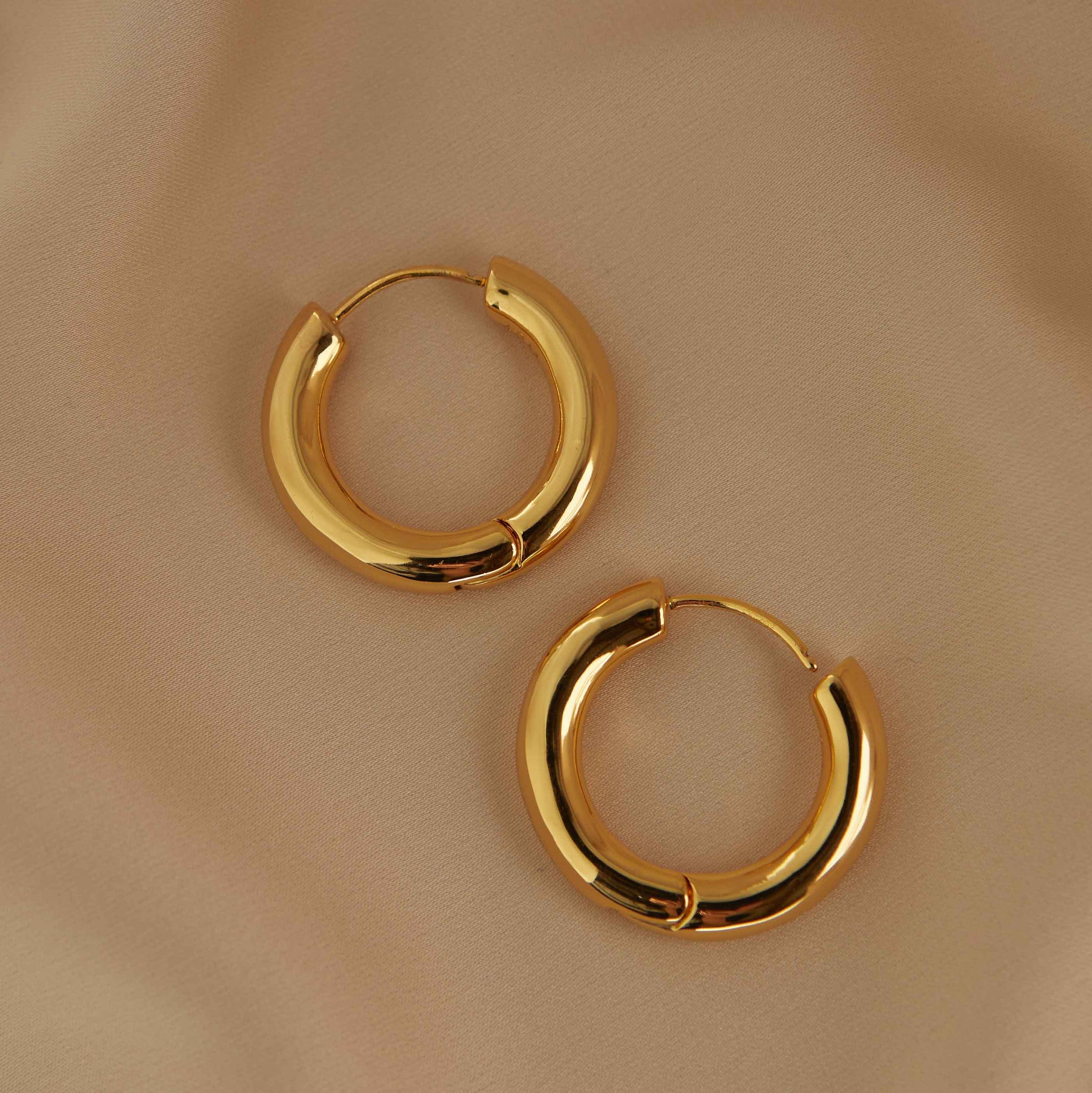 Chunky Hoops in Gold