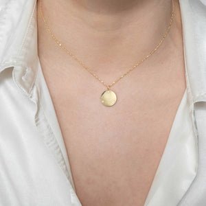 Coin & Stones Necklace Charm in Gold