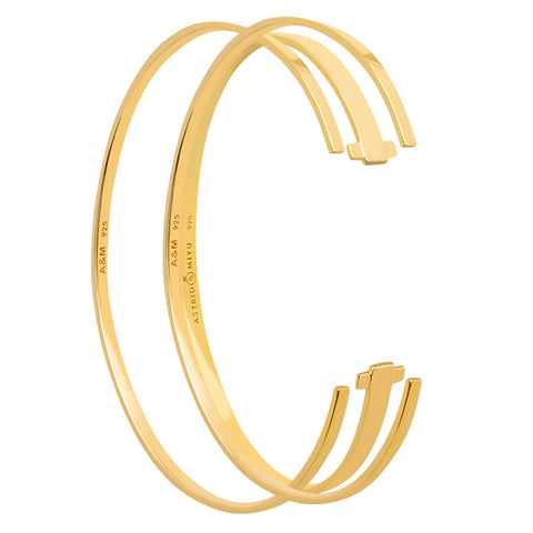 gold stacking bangles set