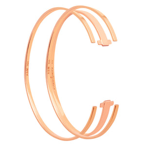 rose gold stacking bangles set