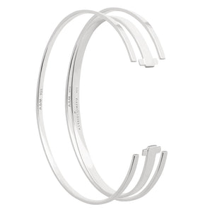 silver stacking bangles set
