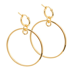 Gold crossing lines hoops